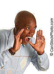 Shouting African Man