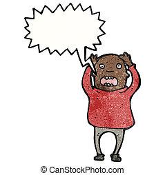 shouting, calvo, caricatura, homem