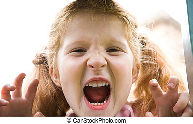 Shouting girl