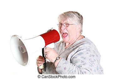shouting grandmother