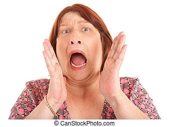 shouting, mulher, ajuda