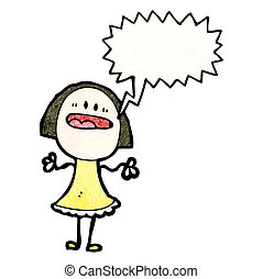 shouting woman with speech bubble