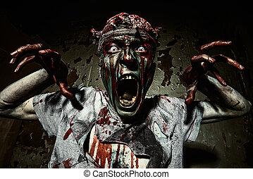 shouting zombie