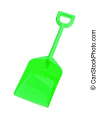 Shovel - A toy shovel isolated against a white background
