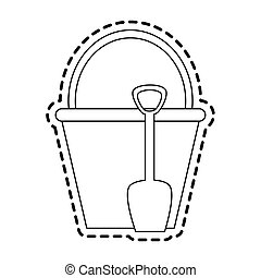 bucket with handle icon image
