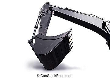 Shovel bucket against white background