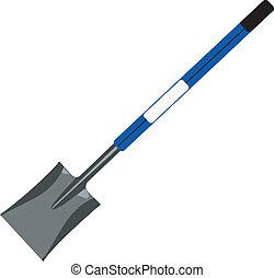 Shovel - Illustration of a shovel isolated with handle