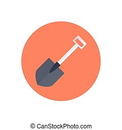 shovel  flat color icon