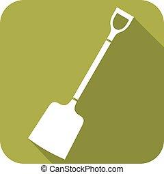 shovel flat icon