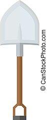 flat image of mining shovel