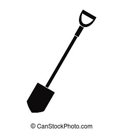 Shovel for working in the garden black simple icon
