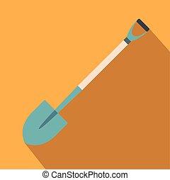 Shovel for working in the garden