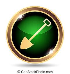 Shovel icon. Internet button on white background.