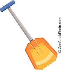 Shovel icon, flat style