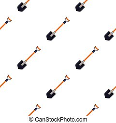 Shovel icon in cartoon style isolated on white background. Mine pattern stock vector illustration.
