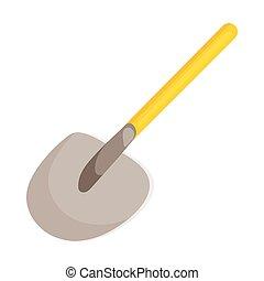 Shovel icon in cartoon style