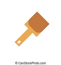 Shovel. Icon on isolated background