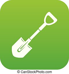 Shovel icon, simple style