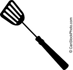 shovel kitchen, silhouette vector illustration isolated on white background