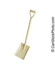 Shovel on white background.