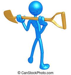 Shovel - 3D Concept And Presentation Figure