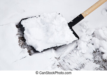 shovel to clean snow