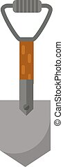 Shovel vector illustration.