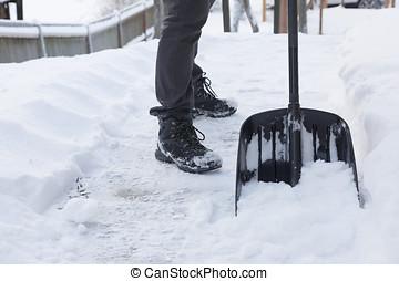shoveling, neve