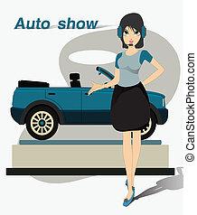 show., hübsch, motor
