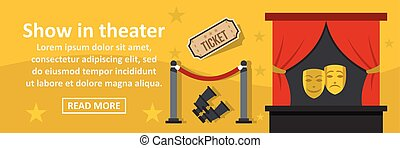 Show in theater banner horizontal concept