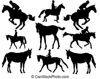 Show jumper silhouette-horse silhouette-vector