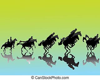 Show jumper silhouette