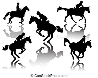 show jumper-silhouette- with shadows