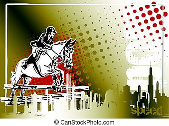 show jumping poster background