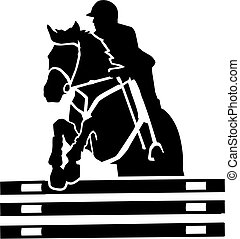 Show jumping vector with many details