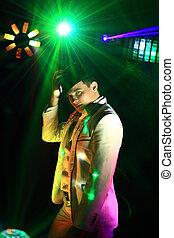 show., laser, disco.