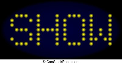 SHOW Led Style Text with Glowing Dots