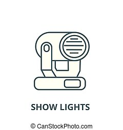 Show lights vector line icon, linear concept, outline sign, symbol