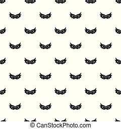 Show mask pattern seamless vector