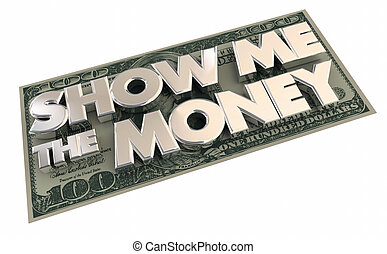 Show Me the Money Cash Income Contract 3d Illustration