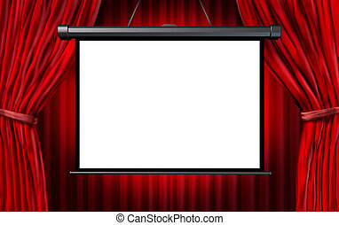 Show Screen - Show screen in a cinema or theater scene with...