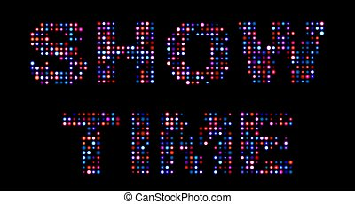 Show time led text