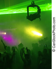 Show Time! - Dancing People At Concert / Disco Party With A...