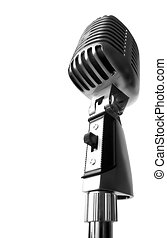 Show Time! - Vintage Elvis Microphone Over White Background...