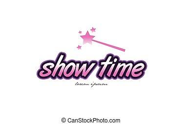 show time word text logo icon design concept idea