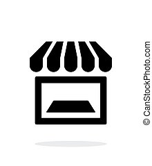 Showcase icon on white background. Vector illustration.