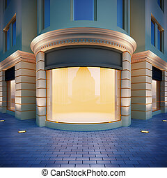 Showcase in classical style. - 3D illustration showcase in...