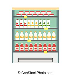 Showcase Refrigerator Dairy Products