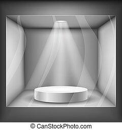 Showcase with podium and light eps10