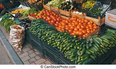 Showcase Vegetables. Farm Fruit Market